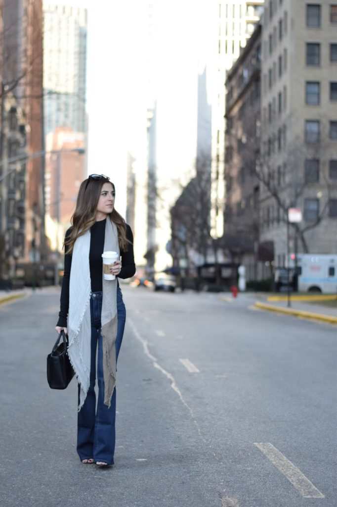 flare jeans, bodysuit